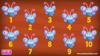 10 Little Butterflies Song | 10 Little Numbers Song