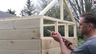 Playhouse build part one. Please subscribe to the channel to eventually see the finished playhouse. For more info, plans, and