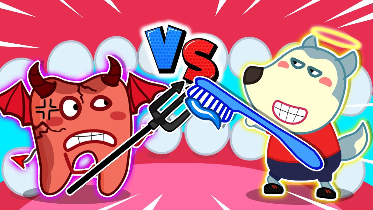 Wolf Family⭐️ Wolfoo vs Devil Tooth, Who is Winner? - Yes Yes Brush Your Teeth | Kids Cartoon