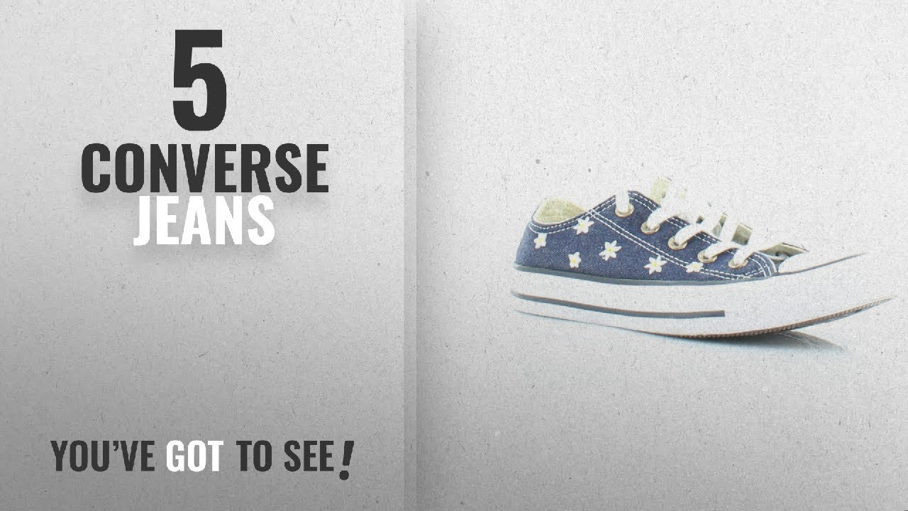 150202aa19155 Top 5 Converse Jeans [2018]: Converse Chuck Taylor All Star Denim Floral Ox  Navy/Fresh Yellow/White