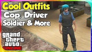 GTA 5 Online - Cool & Awesome Outfits #1 (Cop, Soldier, Drake & More) [GTA V Wardrobe Wednesday]