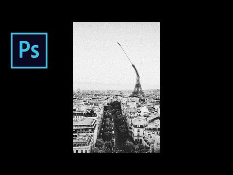 Learn How To Use Puppet Warp Effect - Eiffel Tower - Photoshop Tutorial thumbnail