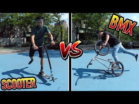 SCOOTER VS BMX!