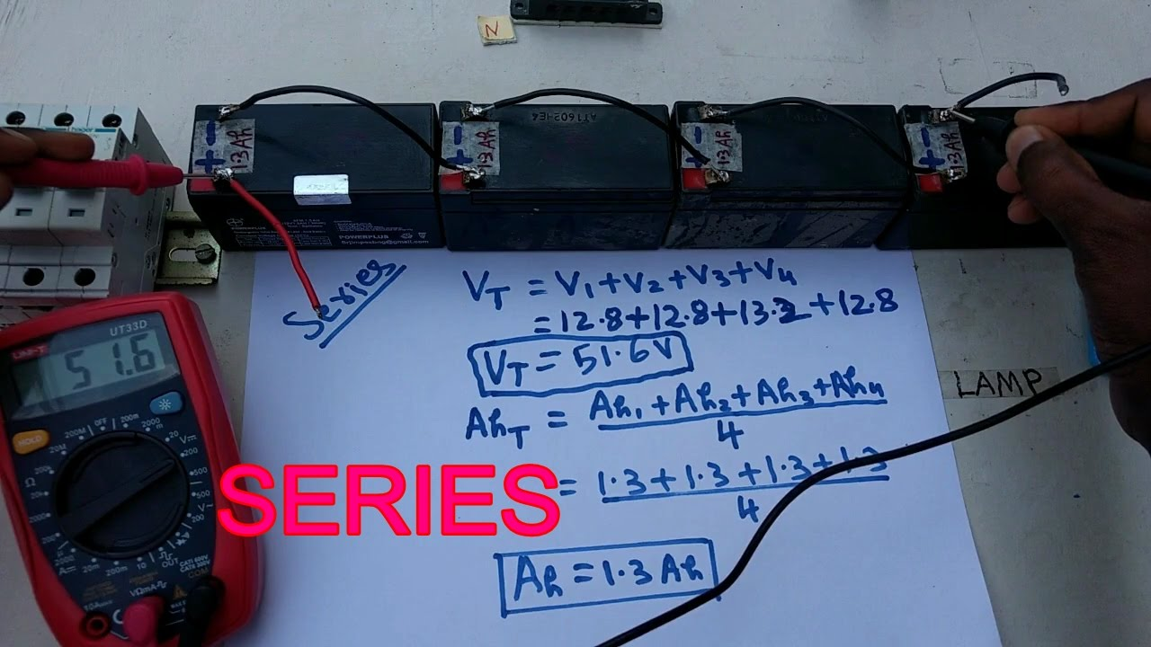 battery series connection, how to connect battery series - in tamil ...