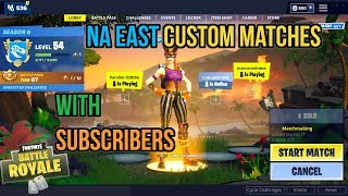 🔴Fortnite Custom Matchmaking With Subscribers NA East Servers Come Join Us!🔥 💎Use Code asmrgaming