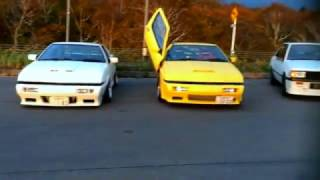 Mitsubishi Lancer Turbo and Starion are tourings together 2015.10.12...