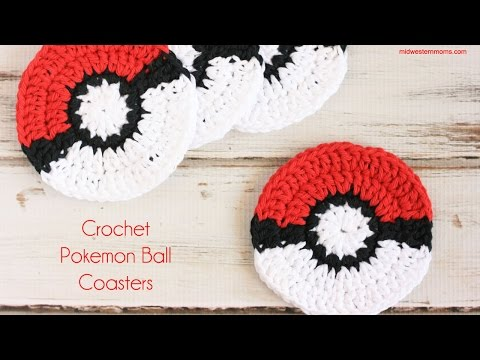 How to Crochet Pokemon Ball Coasters