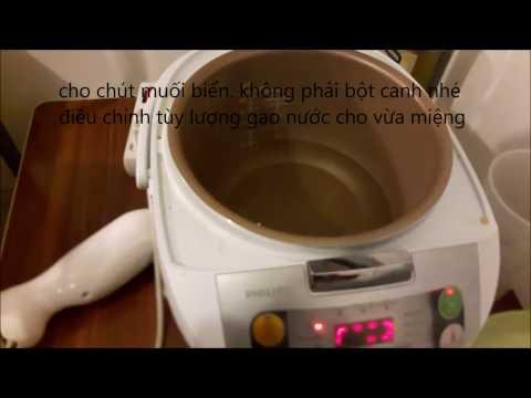 nấu xôi bằng nồi cơm điện cực đơn giản mà ngon