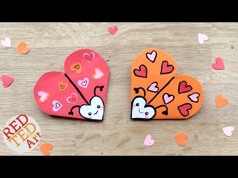 Easy Love Bug Bookmark DIY - Cute & Easy Valentines DIY - Paper DIYs