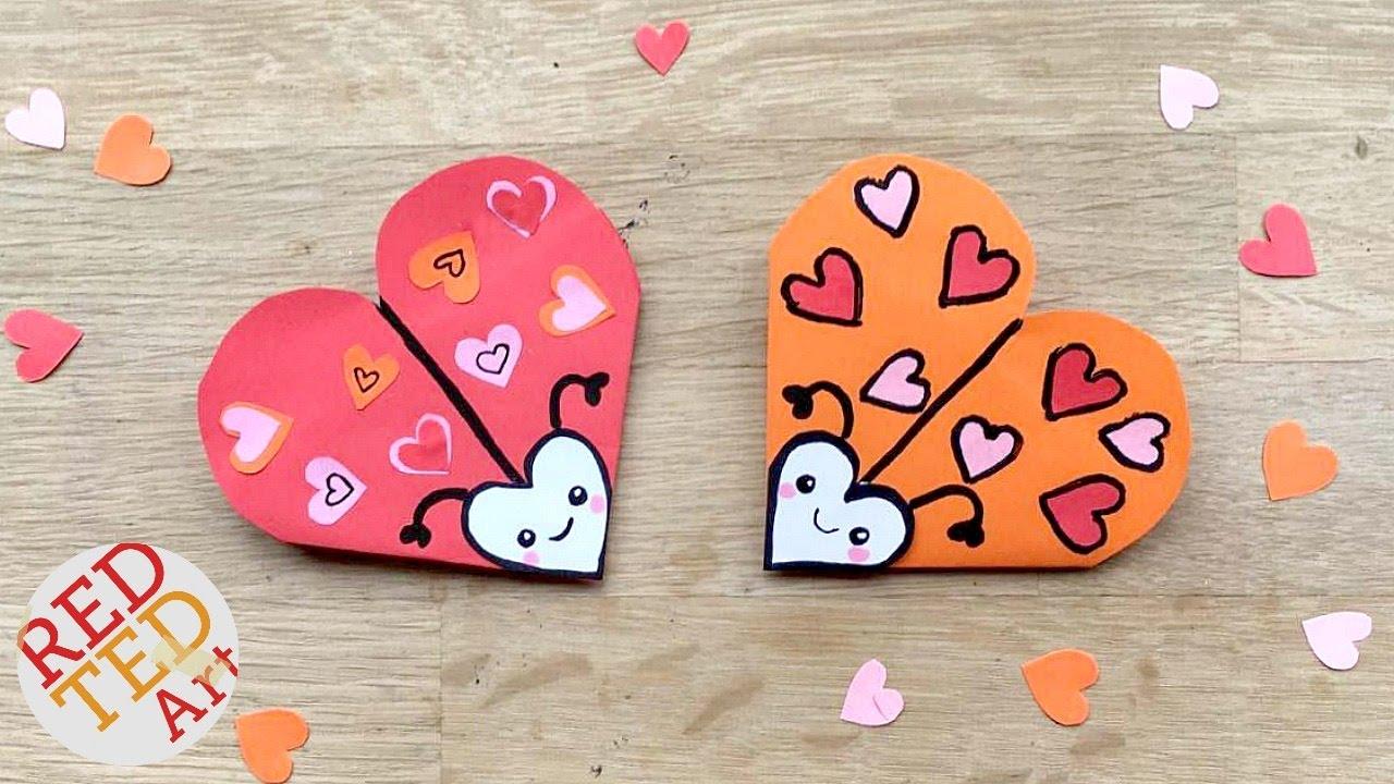 easy love bug bookmark diy cute easy valentines diy paper diys