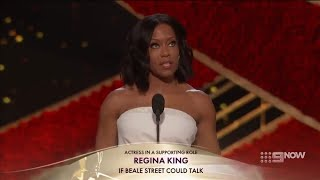 Regina King winning Best Supporting Actress for If Beale Street Could Talk