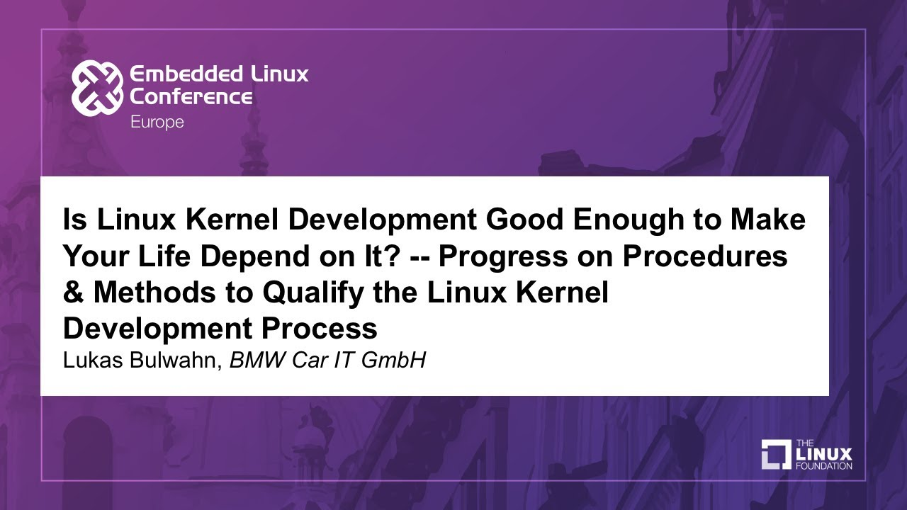 is linux kernel development good enough to make your life depend on