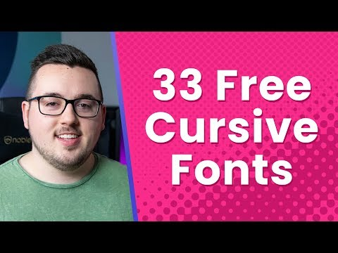 33 Free Cursive Fonts For Your WordPress Website