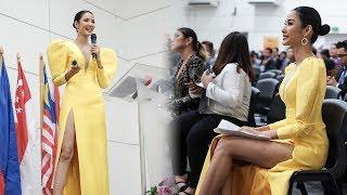 Á hậu Hoàng Thùy tự tin diễn thuyết tiếng anh cho sinh viên ASEAN khiến ai nghe cũng CHOÁNG!