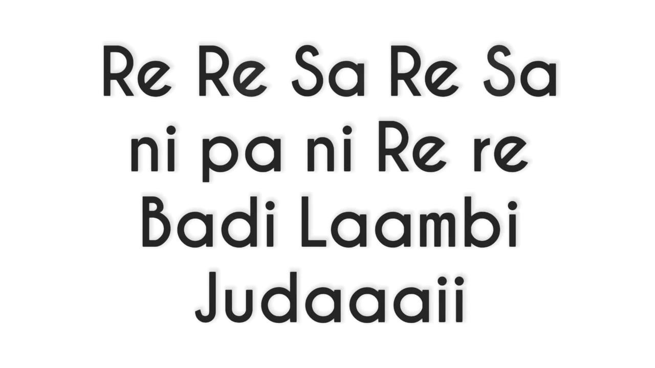 Lambi Judai Old Song Reshma Sargam Notes In Hindi Youtube Indian violin notes in titles/descriptions. lambi judai old song reshma sargam notes in hindi