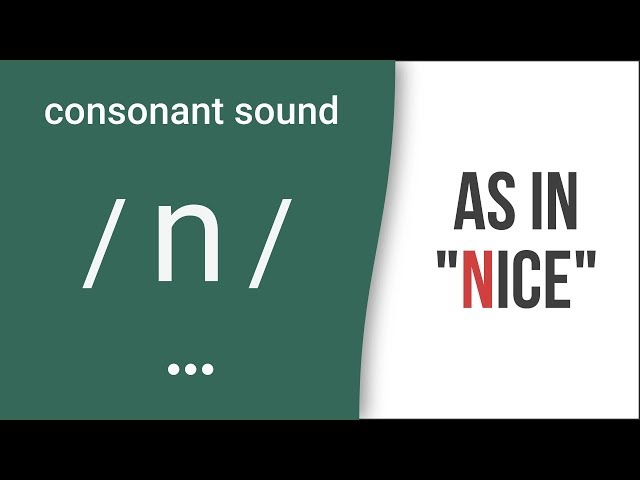 "Consonant Sound / n / as in ""nice""- American English Pronunciation"
