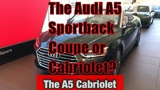 Audi A5 Sportback Coupe Cabriolet Head to Head  Exterior Overview