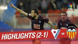 Resumen de SD Eibar vs Valencia CF 2-1