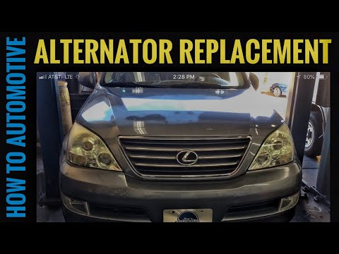 How to Replace the Alternator on a 2002-2009 Lexus GX470