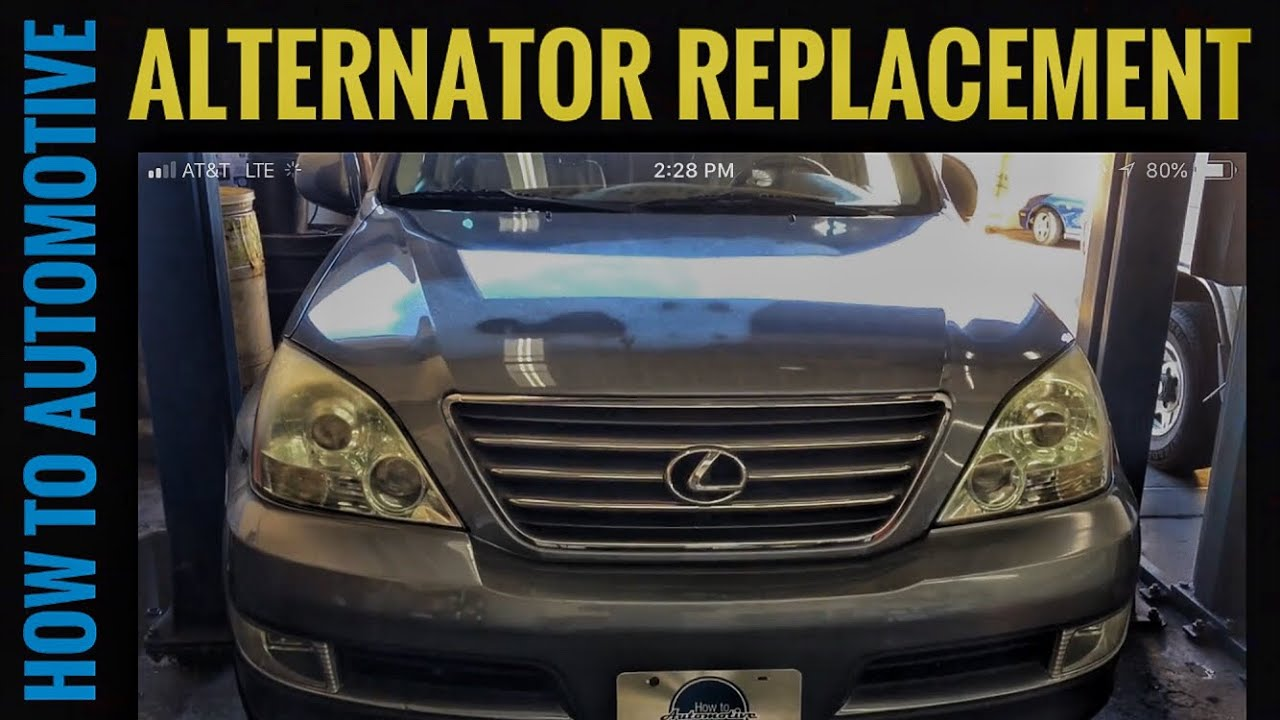how to replace the alternator on a 2002 2009 lexus gx470 [ 1280 x 720 Pixel ]