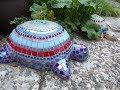 Alice-ART Beton-Schildkröte für Mosaik, Concrete Turtle for Mosaik