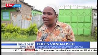 Darkness engulfs Mugumoini Village after unknown people vandalize electric wire