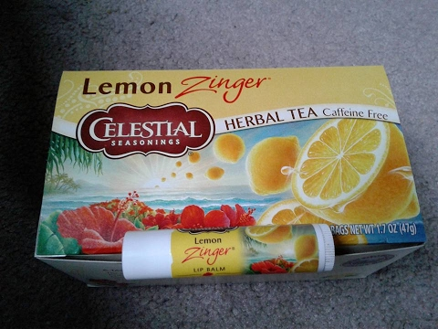 "Celestial Seasonings Lemon Zinger Tea ""Unicorn Box"" - Free Lip Balm - First Impressions & Review"