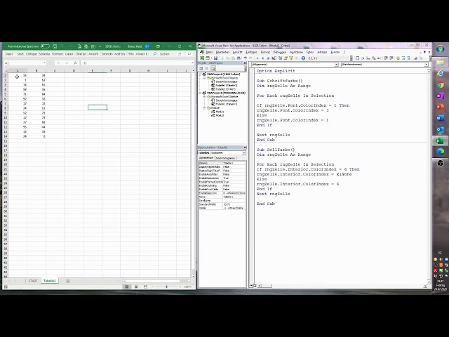 178. Excel-VBA: Schnellformatierung durch Tastenkombinationen für alle Mappen durchführen