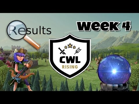 CWL Rising - Results and Predictions after Week 4