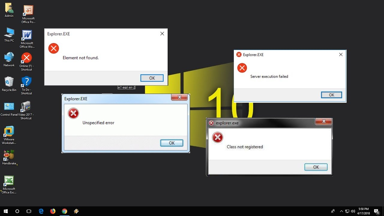 How to Fix All Explorer Exe Errors in Windows 10/7/8