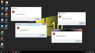How to Fix All Explorer.Exe Errors in Windows 10/7/8