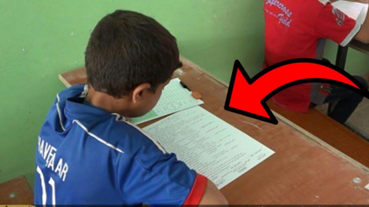 هذا الطفل لم يجد قلم لكي يحل الإمتحان .. ولكن شاهد ماذا فعل | شاهد المفاجئة