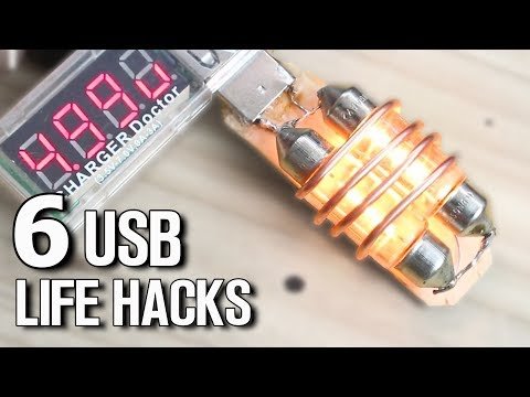 6 USB Gadgets and DIY Life Hacks