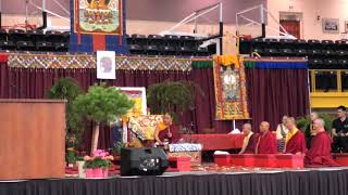 HH Sakya Trichen Rinpoche Cultural Exchange Santa Fe Indian School - Blessings