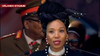 Swati Dlamini-Mandela reads Mama Winnie's obituary