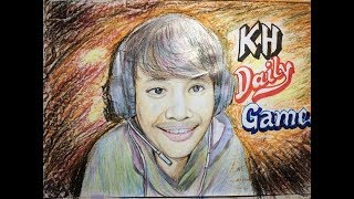 How to draw Bro KH Gamer in Cambodia