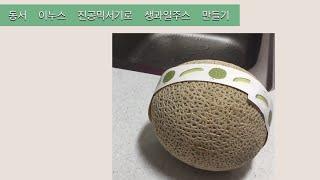 진공믹서기로 생과일 주스 만들기(메론주스,자두주스) /…