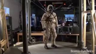 Robot walks to music