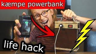 Laver En KÆMPE POWERBANK! / Løser Livets Store Problemer (life hack)