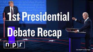Takeaways From The 1st Presidential Debate | NPR