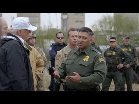 President Donald Trump Visits The Southern Border