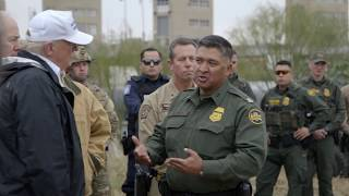 President Donald Trump Visits The Southern Border