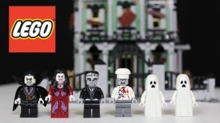 Lego Haunted House Review, Unboxing, Time Lapse Build Monster Fighters 10228