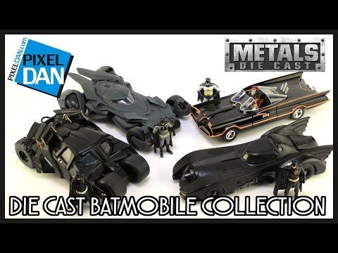 Batman Metals Die Cast Batmobile Collection Jada Toys Video Review