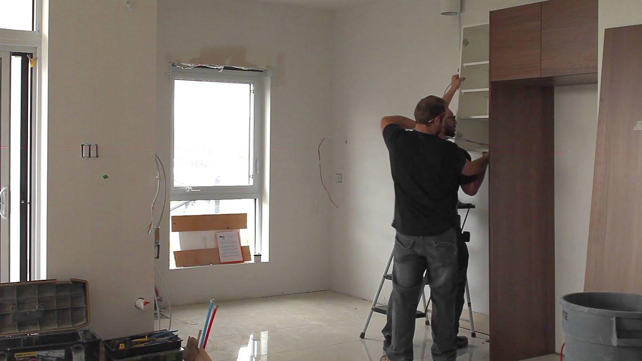l'installation d'une cuisine les cuisines linda goulet - youtube