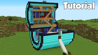 Minecraft: How to Build a Diamond Chest House Tutorial