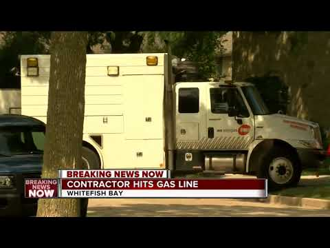 Punctured Gas Line Causes Leak In Whitefish Bay