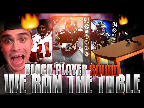 ALL BLACK PLAYER TEAM! WE RUNNING THE TABLE! | MADDEN 17 ULTIMATE TEAM