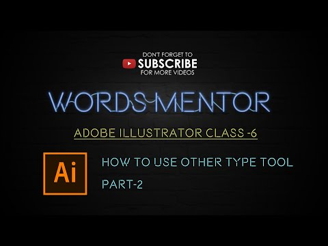 Illustrator Tutorial - Class 6 - How to Use Type Tool Part-2 Urdu / Hindi thumbnail