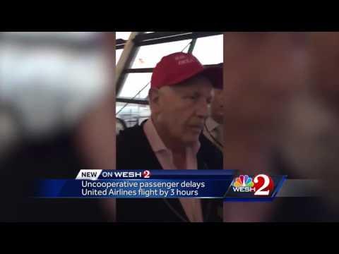 Uncooperative passenger delays United Airlines